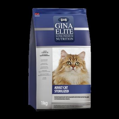 Сухой корм Gina Elite Cat Sterilized UK для стерилизованных кошек
