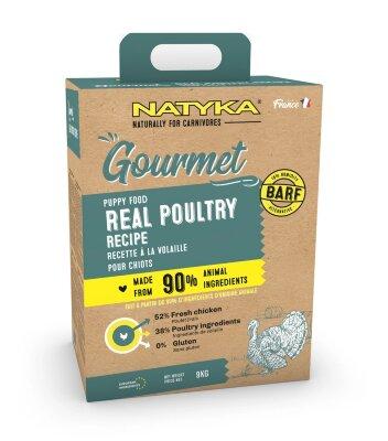 Сухой корм Natyka Gourmet Dog Puppy Poultry для щенков с Птицей