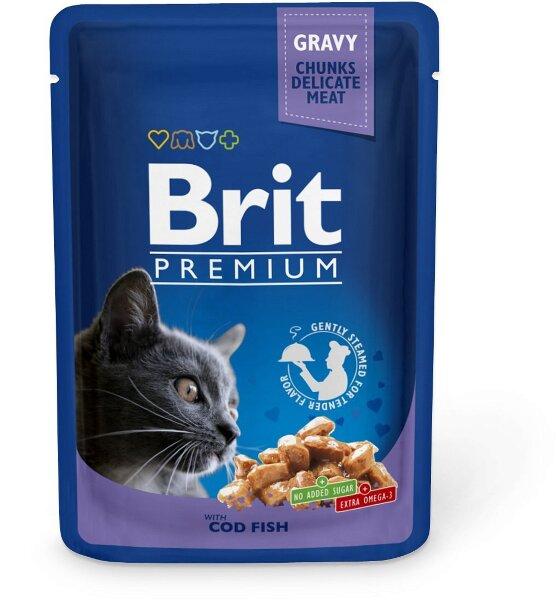 Паучи для кошек Brit Premium с Треской, 100г