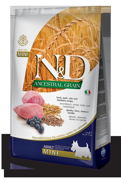 Сухой корм Farmina N&D Prime Adult Mini беззерновой для взрослых собак мелких пород с ягненком и черникой