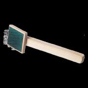 Пуходерка деревянная плоская, малая Зооник (эконом)
