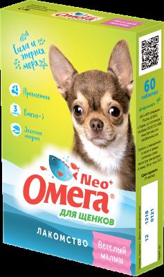 Витамины для щенков Омега Neo с L-карнитином, 60 таб