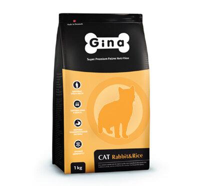 Сухой корм Gina Cat Rabbit & Rice для кошек с нормальным уровнем активности Кролик/рис