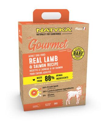Сухой корм Natyka Gourmet Dog Adult Lamb & salmon для собак с Ягненком и Лососем