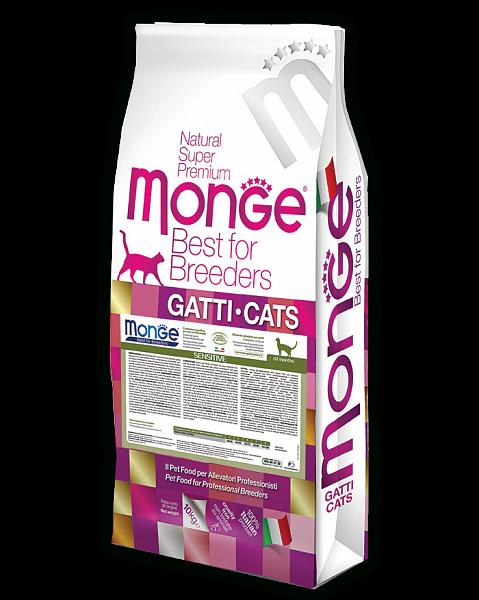 Сухой корм Monge Cat Sensitive для кошек с чувствительным пищеварением