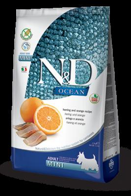 Сухой корм Farmina N&D Ocean беззерновой для собак мелких пород с сельдью и апельсином