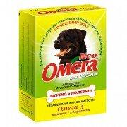 Витамины для собак Омега Neo с протеином и L-карнитином, 90 таб