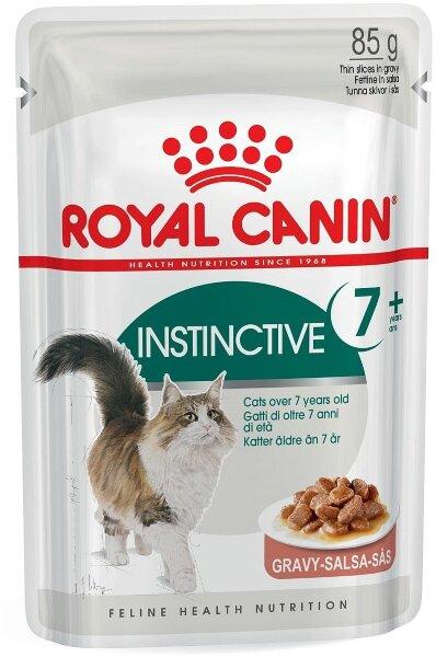 Паучи Royal Canin Instinctive +7 в соусе для кошек старше 7 лет
