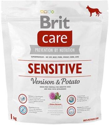 Сухой корм Brit Care Sensitive с олениной для собак с чувствительным пищеварением