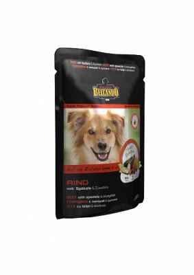 Паучи для собак Belcando с говядиной, лапшой и цуккини, 12шт x 125г