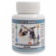 Витамины для кошек Вака для кастрированных котов, 80 таб