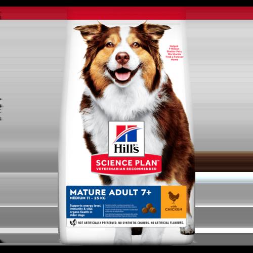 Сухой корм Hill's Science Plan для собак средних пород старшего возраста с курицей, 12кг