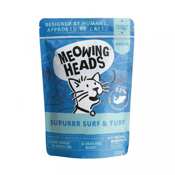 """Паучи Barking Heads для кошек с сардинами, тунцом, курицей и говядиной """"Все лучшее сразу"""""""