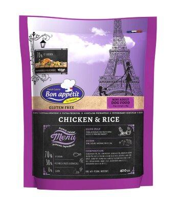 Сухой корм Bon Appetit Dog Adult mini chicken & rice для собак мелких пород с Курицей и Рисом