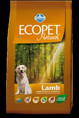 Сухой корм Farmina Ecopet Natural Lamb Medium для взрослых собак средних пород с проблемами пищеварения и аллергией, с ягненком