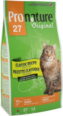 Сухой корм Pronature Original 27 для пожилых и малоактивных кошек