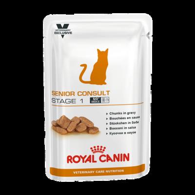 Паучи Royal Canin VCN Senior Consult Stage 1 для котов и кошек старше 7 лет, 100 г