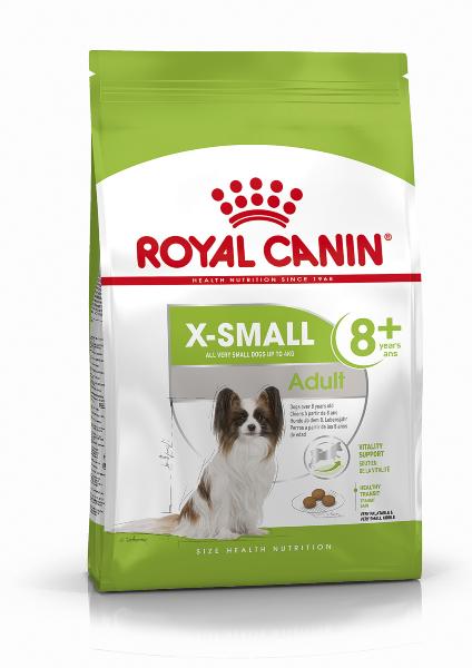 Сухой корм Royal Canin X-Small Adult 8+ для стареющих собак миниатюрных пород, 500г