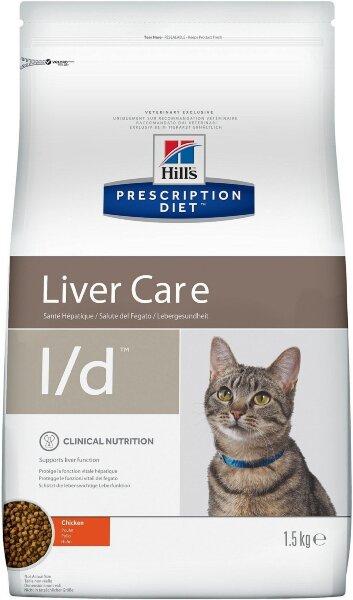 Сухой корм Hill's Prescription Diet l/d для лечения заболеваний печени у кошек, 1,5кг