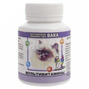 Витамины для кошек Вака Мультивитамины, 80 таб