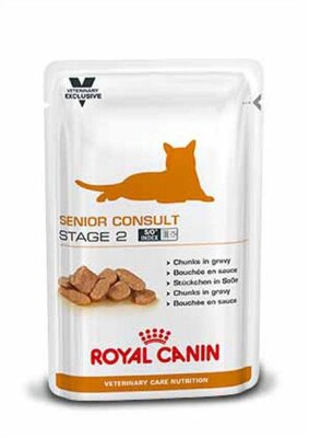Паучи Royal Canin VCN Senior Consult Stage 2 для котов и кошек старше 7 лет с признаками старения 100 г