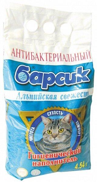 Наполнитель для кошачьего туалета Барсик Альпийская свежесть впитывающий 4,54 л
