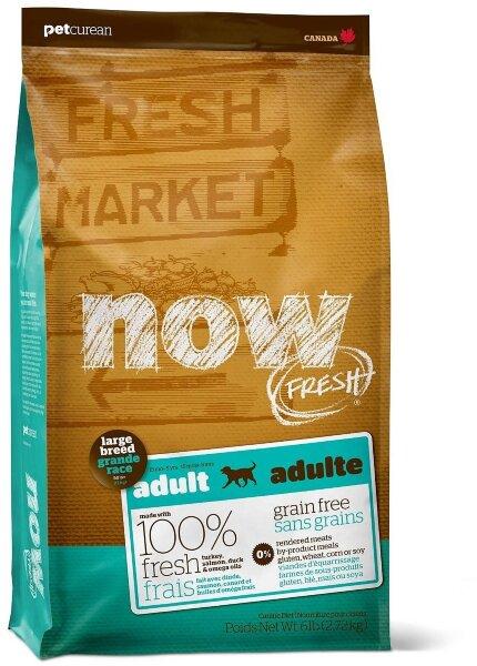 Сухой корм NOW Fresh Large Breed Adult для взрослых собак крупных пород беззерновой с индейкой, уткой и овощами