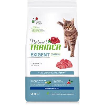 Сухой корм Trainer Natural Exigent Cat с говядиной для особо привередливых кошек.