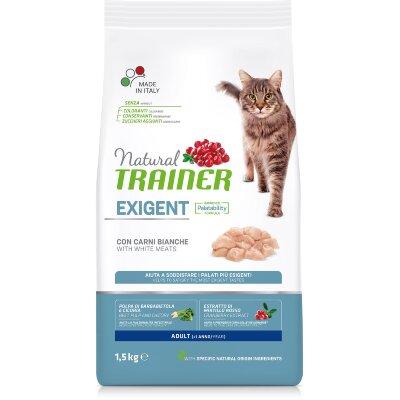 Сухой корм Trainer Natural Exigent Cat со свежим белым мясом для особо привередливых кошек