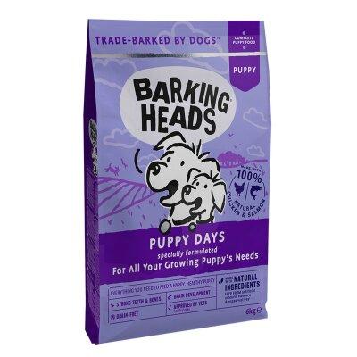 """Сухой корм Barking Heads беззерновой для щенков с лососем и бататом """"Щенячьи деньки"""""""