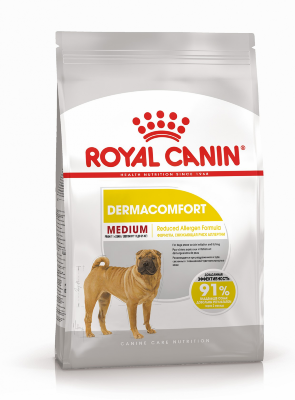 Сухой корм Royal Canin Medium Dermacomfort для собак средних пород с раздраженной кожей