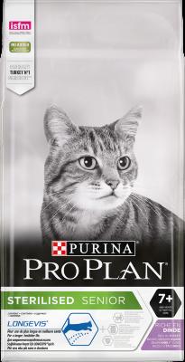Сухой корм Pro Plan Sterilised Adult 7+ для кастрированных и стерилизованных кошек и котов старше 7 лет
