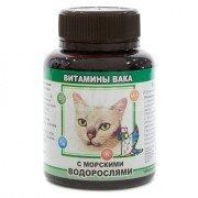 Витамины для кошек Вака с морскими водорослями, 80 таб