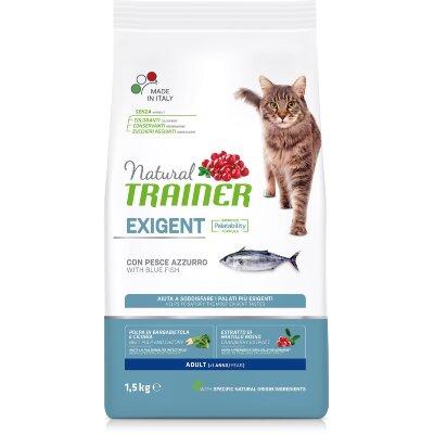 Сухой корм Trainer Natural Exigent Cat с океанической рыбой для особо привередливых кошек