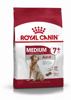 Сухой корм Royal Canin Medium Adult 7+ для взрослых собак средних пород от 7 до 10 лет