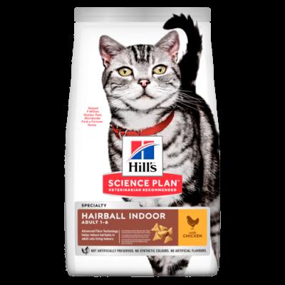 Сухой корм Hill's Science Plan Indoor Cat для взрослых кошек, курица