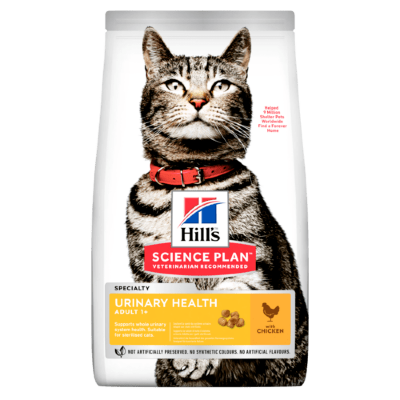 Сухой корм Hill's Science Plan Urinary Health для взрослых кошек, с курицей