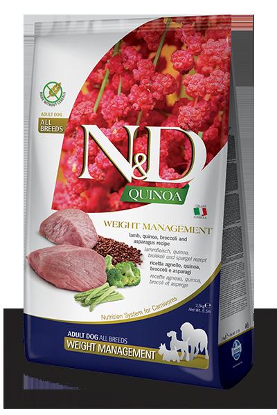 Сухой корм Farmina N&D Quinoa Dog Weight Management беззерновой для собак, Контроль веса