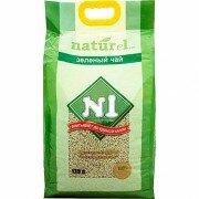 Наполнитель №1 Naturel зеленый чай древесный комкующийся для кошек 17,5л