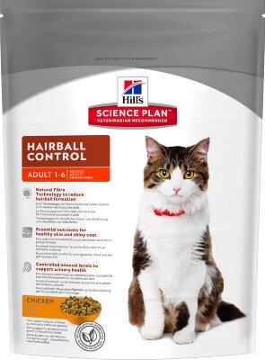 Сухой корм для кошек с курицей Hills Science Plan Hairball Control