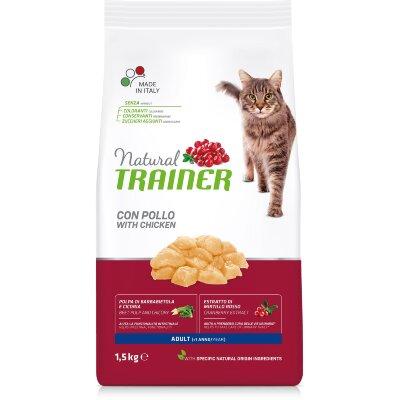 Сухой корм Trainer Natural Cat Adult со свежим мясом курицы для взрослых кошек