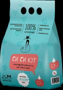 Наполнитель Си Си Кэт комкующийся для кошек с голубой глиной 5,3 л
