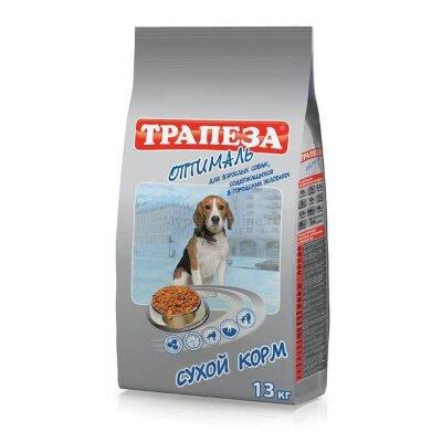 Сухой корм Трапеза Оптималь для взрослых собак, живущих в домашних условиях