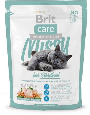 Гипоаллергенный сухой корм Brit Care Cat Missy for Sterilised для кастрированных котов