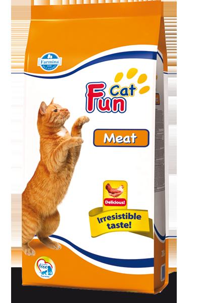 Сухой корм Farmina Fun Cat для кошек с мясом