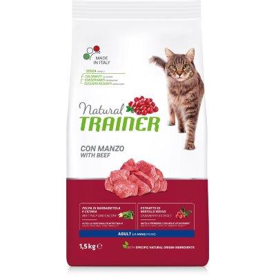 Сухой корм Trainer Natural Cat Adult с говядиной для взрослых кошек
