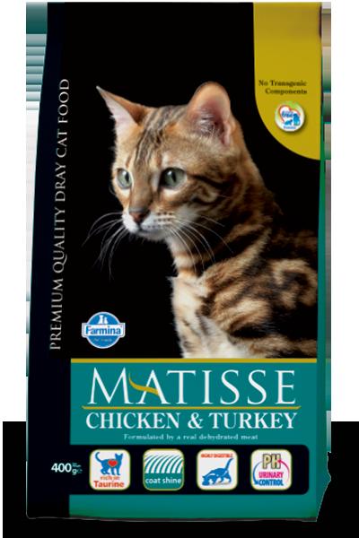 Сухой корм Farmina Matisse Chicken & Turkey для взрослых кошек с курицей и индейкой