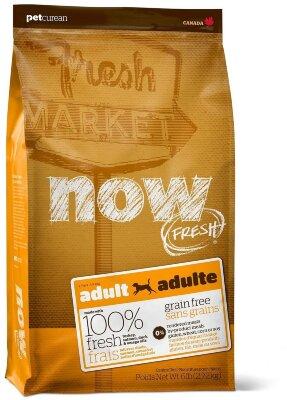 Сухой корм NOW Fresh Adult для взрослых собак беззерновой с индейкой, уткой и овощами