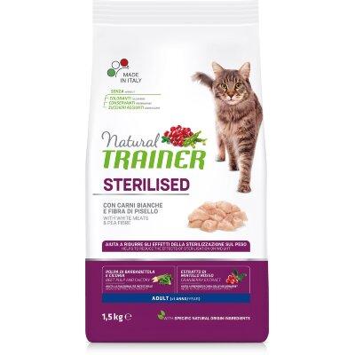 Сухой корм Trainer Natural Cat Adult Sterilised со свежим белым мясом для стерилизованных кошек
