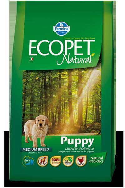 Сухой корм Farmina Ecopet Natural Puppy Medium для щенков средних пород